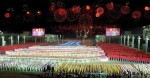 "North Koreans perform during the ""Grand Evening Gala"" in Pyongyang"