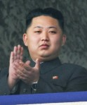 Kim Jong-un, youngest son of North Korean leader Kim Jong-il, claps as he watches a parade in Pyongyang