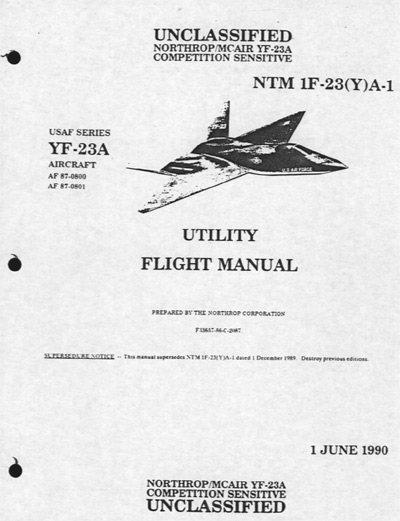 YF-23 Utility Flight Manual 2011