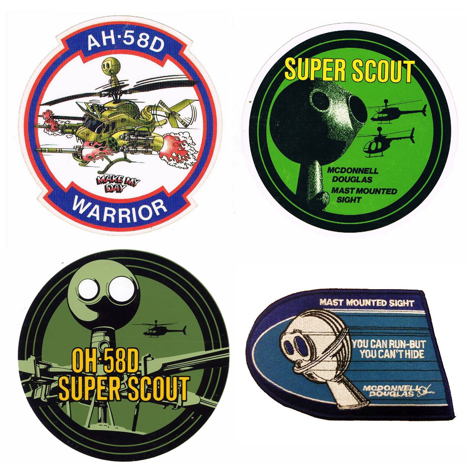 780e8df263368 La quinta patch e  invece dedicata alla primissima versione del Kiowa  Warrior  la AH-58D. Questa derivava dall OH-58D AHIP ma